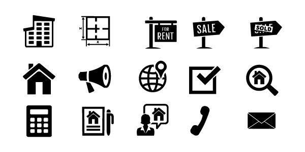 Icons Videovorlage Immobilien